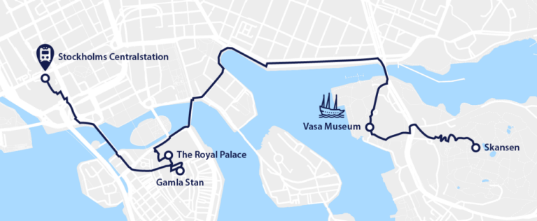 Map Stockholm city guide