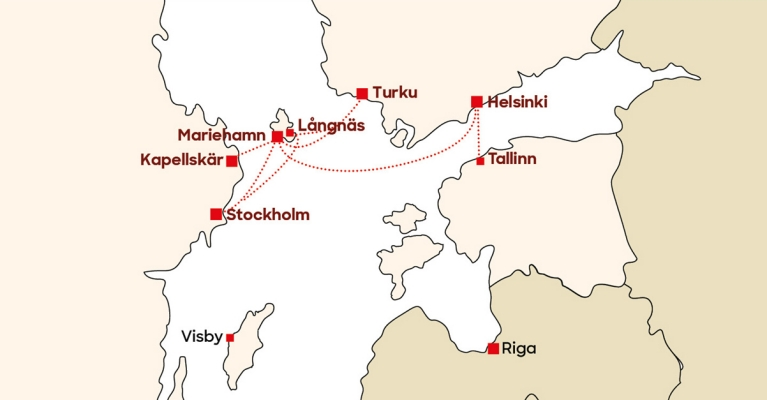 Viking-Line-route-map