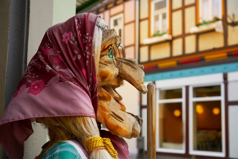 Wernigerode traditional witch puppets