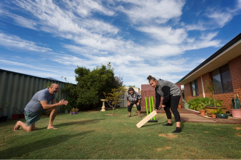 Backyard cricket (by Shutterstock)