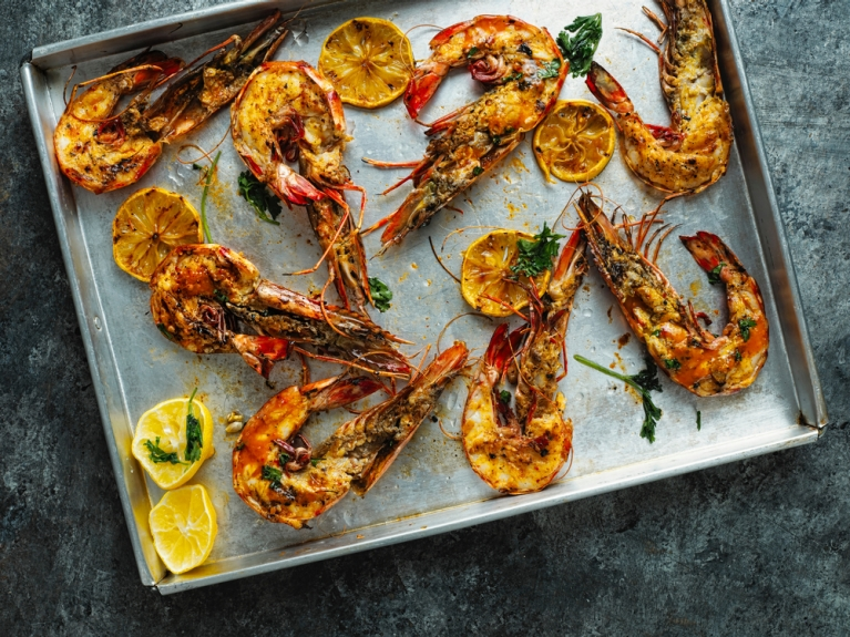 Shrimps on the barbie (by Shutterstock)
