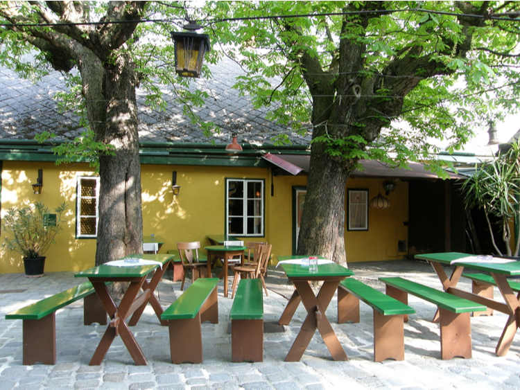 A typical Austrian heuriger tavern