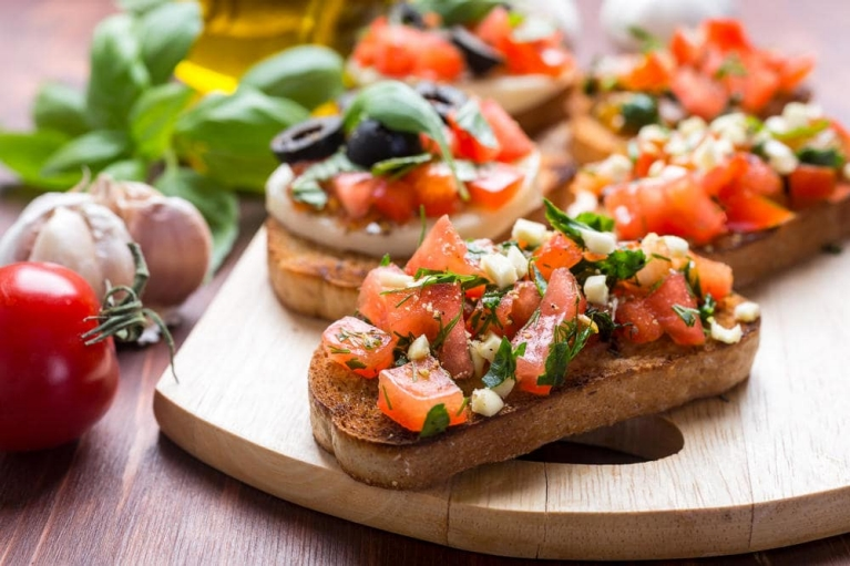 Bruschetta in Rom, Italien