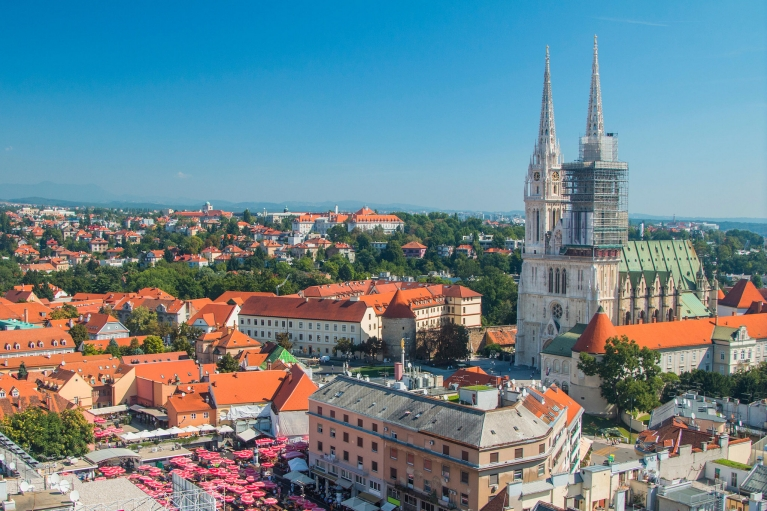 Zagreb city centre
