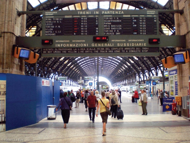 Inside Milan's central station