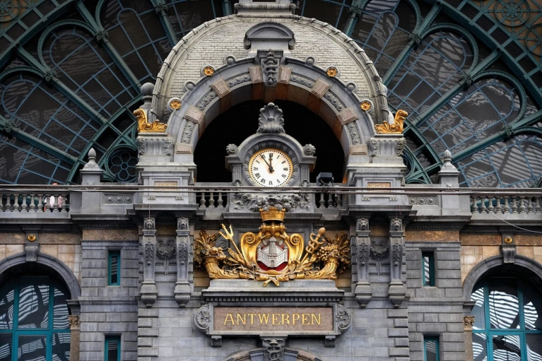 Train station of Antwerp, Belgium