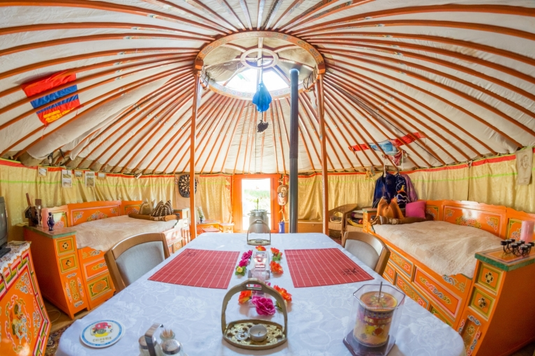 Interieur Airbnb tent