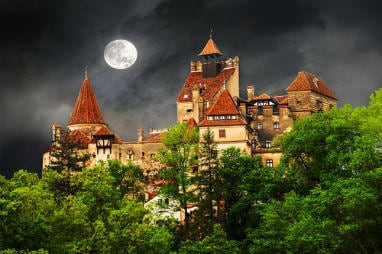 European destinations to spend Halloween | Dracula castle in Bran town, Halloween concept in Romania