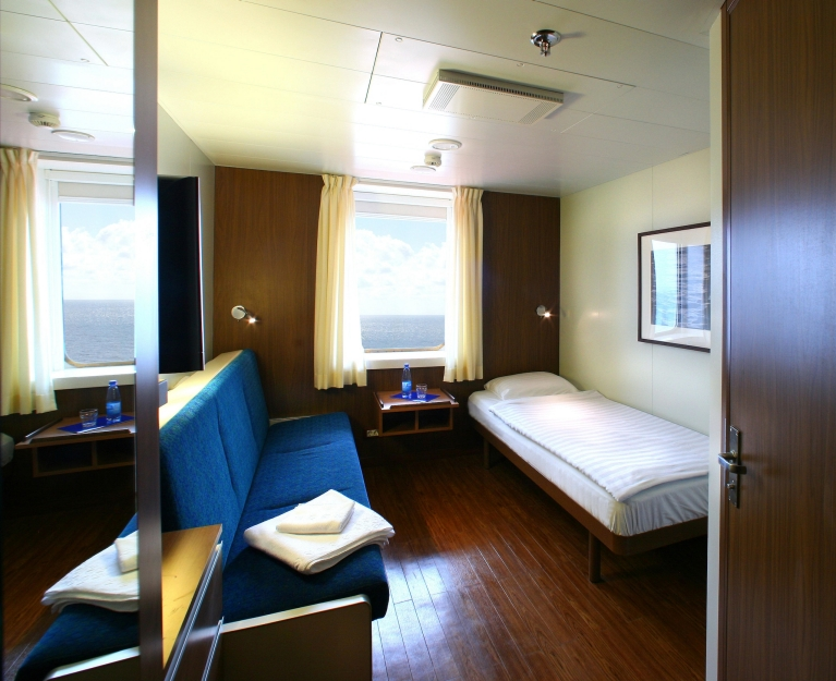 Cabin on board the Finnlines ferry