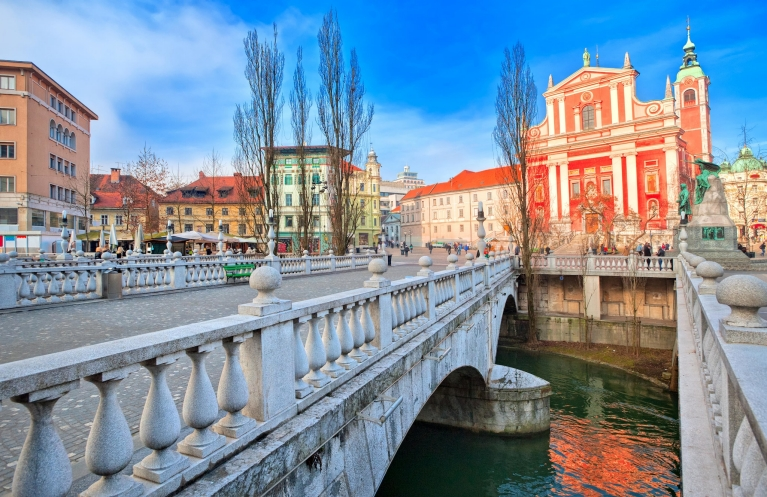 City centre of Ljubljana