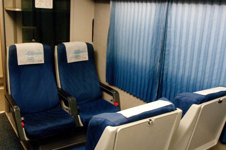 Interior of AVE high-speed train 2nd class
