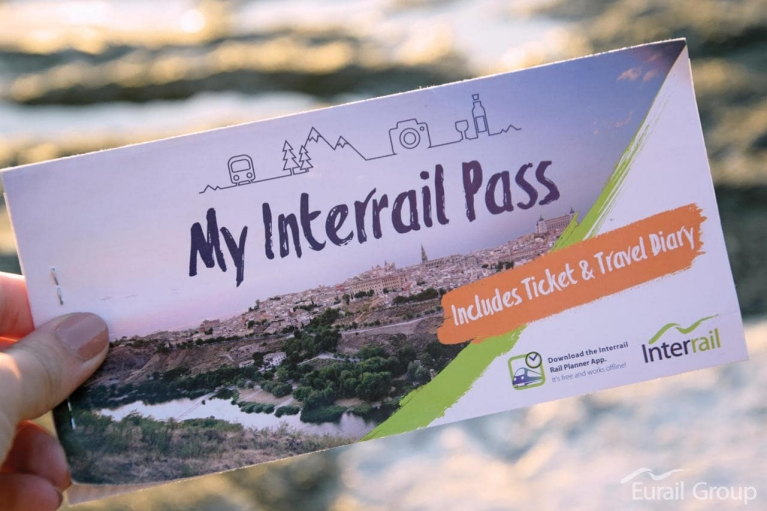 Taking a photo of my Interrail Pass