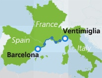 map-route-barcelona-ventimiglia