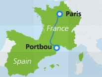 map-route-nighttrain-paris-portbou