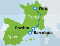 map-route-noreservations-paris-portbou