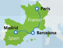 map-route-paris-barcelona-madrid
