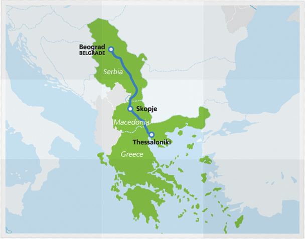 Map with Hellas Express route newest
