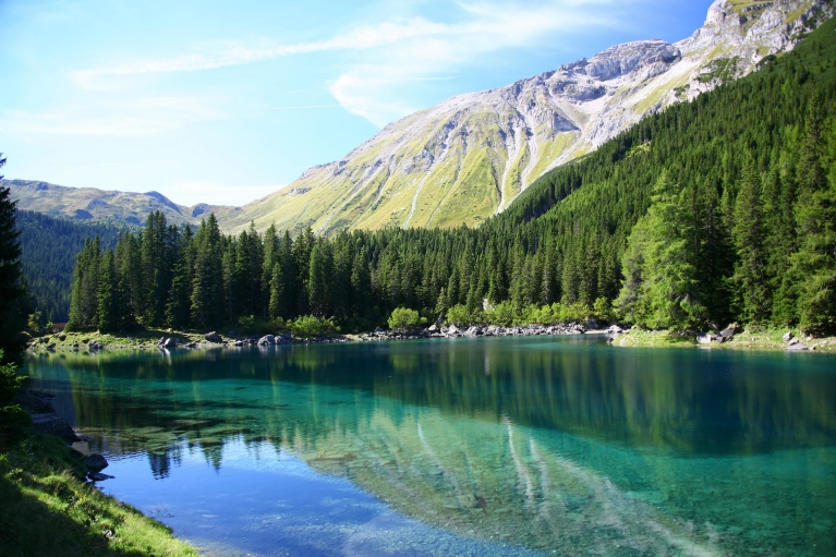 Mountain lake in Tyrol