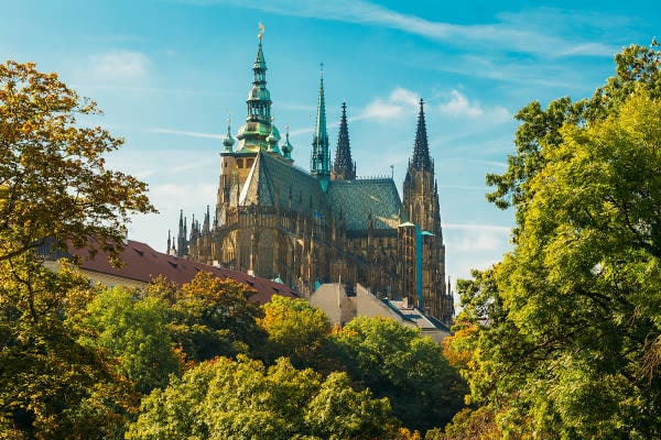 Sandemans Walking Tours | Prague Castle on a bright sunny day in Czech Republic