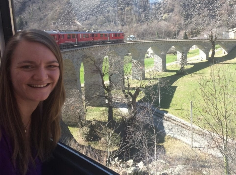"""The Bernina Express route is without a doubt the most beautiful train route in Europe!"""