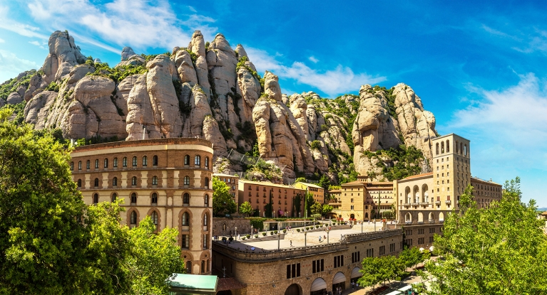 Mountainside city of Montserrat