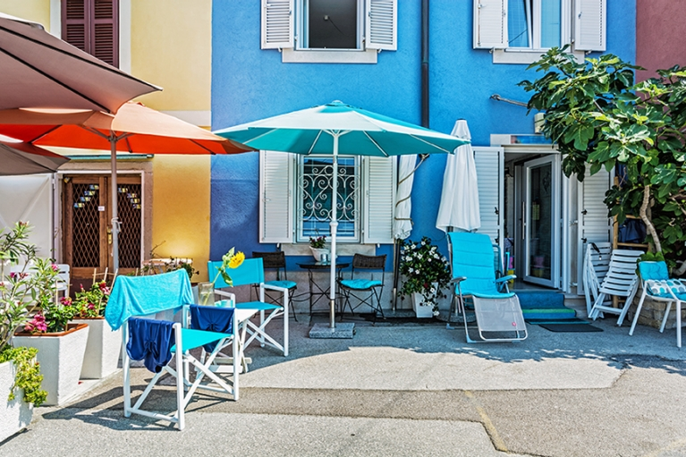 Colourful cafe's, Piran
