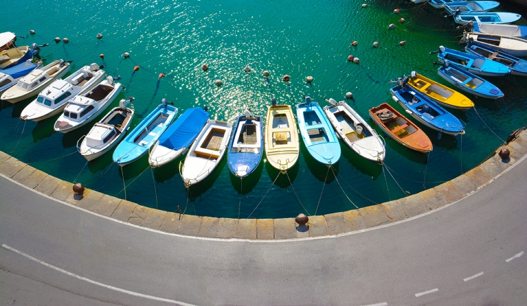 The docks of Piran