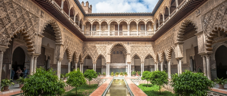 Inside the Royal Alcázar of Seville