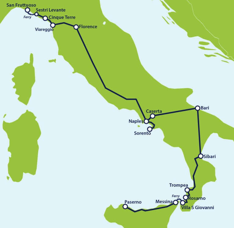 Italy_beach_itinerary_map